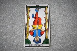 upside down tarot card