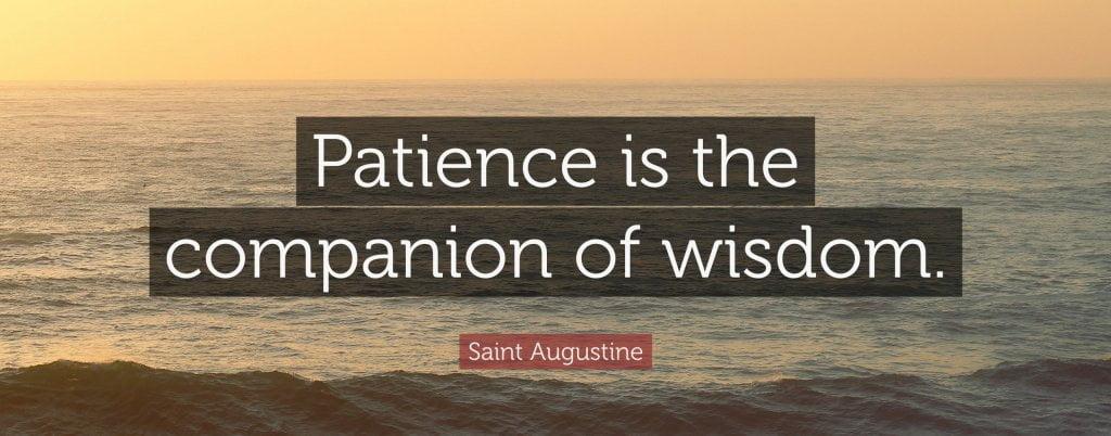 be patient psychic medium