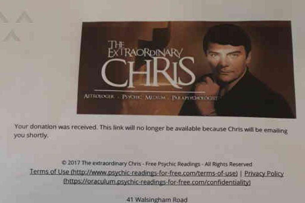 extraordinary chris scam