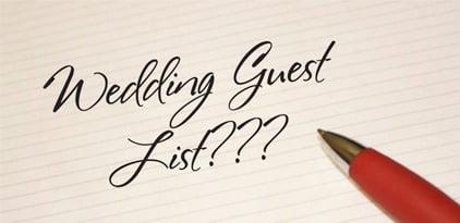 Psychic help wedding guest list