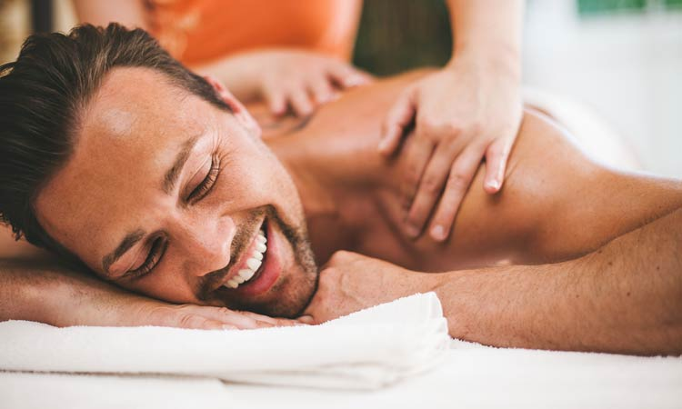 Giving partner a massage