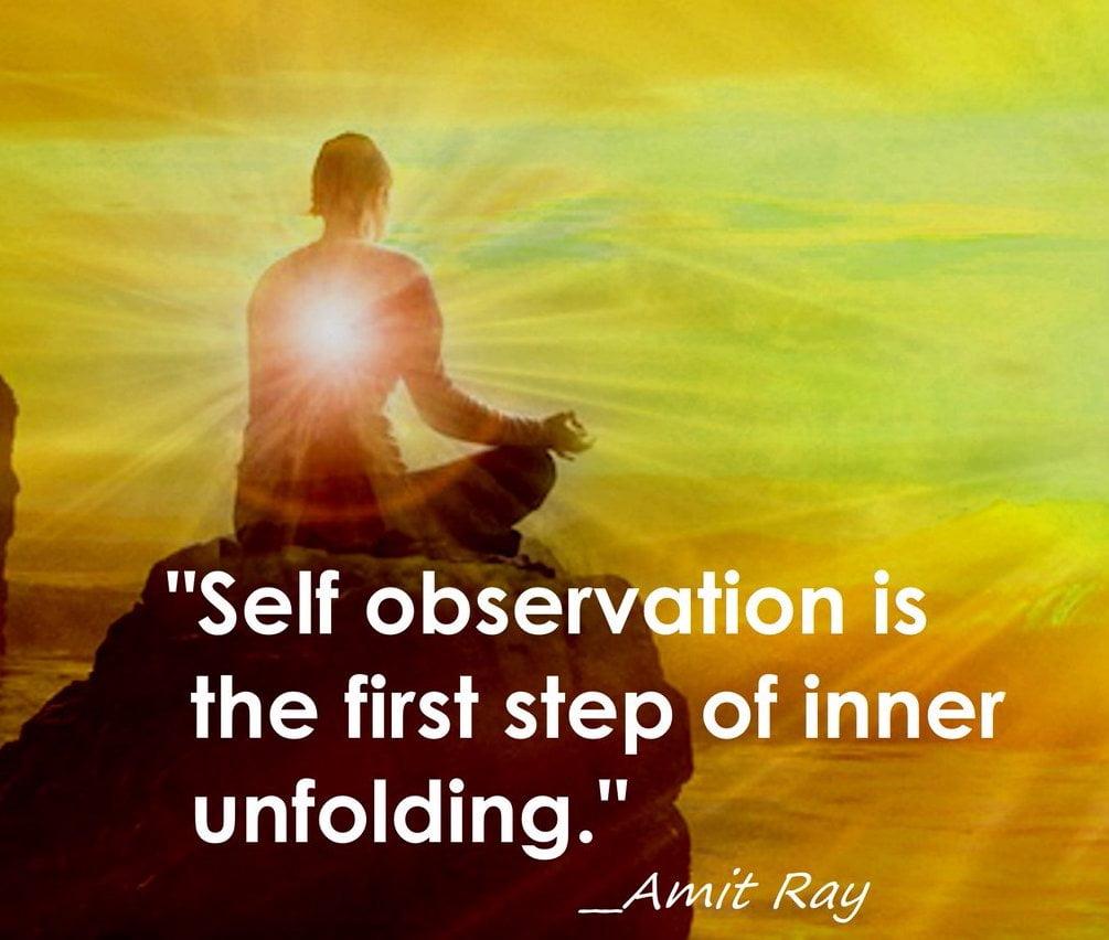 Self observation while meditating