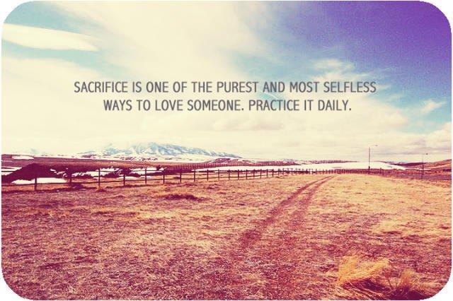 Relationship sacrifice
