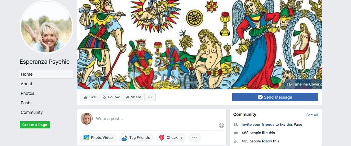 Esperanza Psychic Facebook